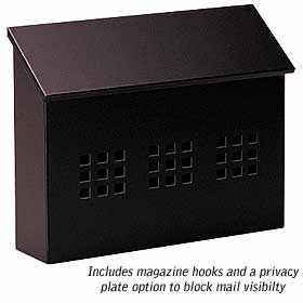 Salsbury industries 4615BLK Traditional Mailbox-Decorative-Horizontal Style-Black