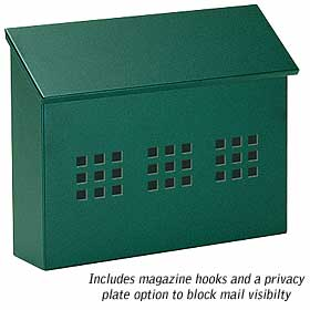 Salsbury industries 4615GRN Traditional Mailbox-Decorative-Horizontal Style-Green