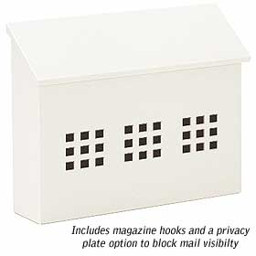 Salsbury industries 4615WHT Traditional Mailbox - Decorative-Horizontal Style-White
