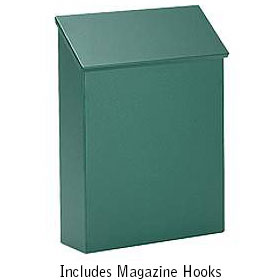 Salsbury industries 4620GRN Traditional Mailbox-Standard-Vertical Style-Green
