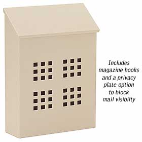 Salsbury Industries 4625BGE Traditional Mailbox-Decorative-Vertical Style-Beige