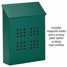 Salsbury Industries 4625GRN Traditional Mailbox-Decorative-Vertical Style-Green