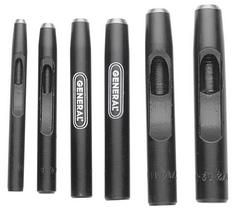 General Tools 1280ST 6pc Hollow Steel Punch Set