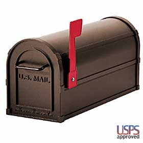 Salsbury industries 4850A-BRZ Antique Rural Mailbox-Bronze Finish