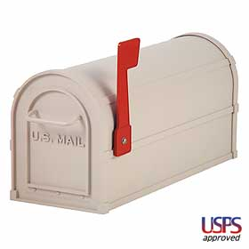 Salsbury industries 4850BGE Heavy Duty Rural Mailbox-Beige