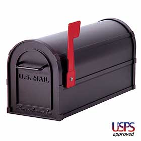 Salsbury industries 4850BLK Heavy Duty Rural Mailbox-Black
