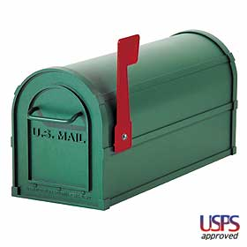 Salsbury industries 4850GRN Heavy Duty Rural Mailbox-Green