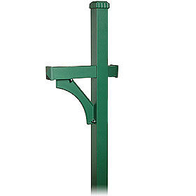 Salsbury industries 4870GRN Deluxe Mailbox Post-1 Sided-in-Ground Mounted-Green