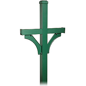 Salsbury industries 4872GRN Deluxe Mailbox Post-2 Sided For (2) Mailboxes-in-Ground Mounted-Green