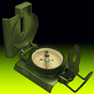 CAMMENGA  3H Official US Military Tritium Lensatic Compass w/ FREE UPS
