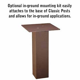 Salsbury 4896 in-Ground Mounting Kit For Classic Mailbox Posts