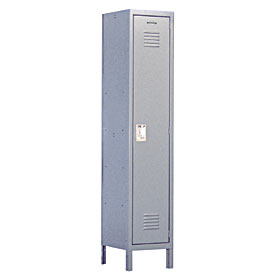 Salsbury industries 51165GY-U Extra Wide Standard Locker-Single Tier -1 Wide-6 Feet High-15 inches Deep-Gray-Unassembled