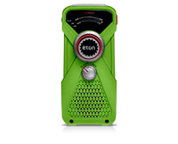 Eton Grundig NFRX1WXGR Hand Turbine AM/FM Weather Alert Radio and LED Flashlight - Green