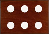 Maximum 6-Instrument Mahogany Panel