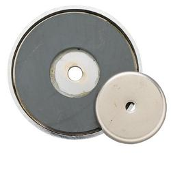 General Tools 376D 50 lb. Shallow Pot Ceramic Magnet