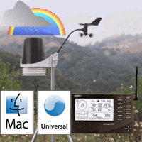 Davis Wireless 6152 Vantage Pro2 Weather Station with Standard Radiation Shield Weather Underground Mac Package