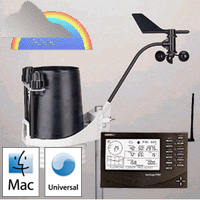 Davis Instruments 6162C Vantage Pro2 Plus Cabled Weather Station Weather Underground Mac Package