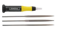 General Tools 707477 3pc Swiss Pattern Needle File Set