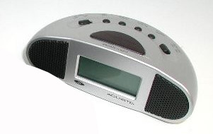Chaney 19958-Silver Digital Alarm Clock