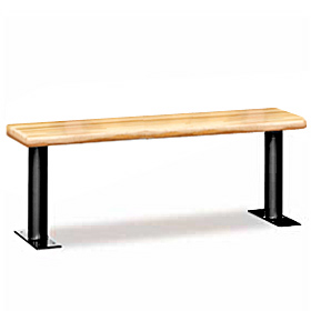 Salsbury industries 77786LGT Wood Locker Bench-72 inches Wide- Light