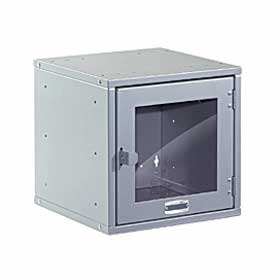 Salsbury industries 81012GY-A Modular Locker-Window Door-12 inch Cube-Gray-Assembled