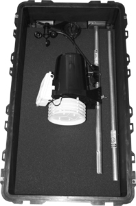 Ambient Weather Pelican VP2PELICAN2 Watertight, Crushproof and Dust Proof Wheeled Case with Pick 'N' Pluck Foam for Davis Vantage Pro2 Weather Stations - BLACK