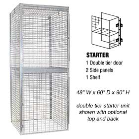 Salsbury industries 8245-S Storage Locker-Double Tier-Starter-48 inches Wide-60 inches Deep
