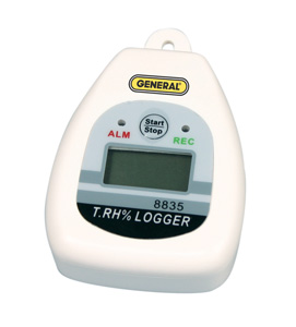 General Tools DL8835 Temperature Humidity Data Logger with On-Off Switch