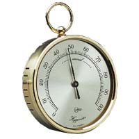 Robert White Model 777 BA777 Brass Pocket Calibrateable Hygrometer