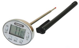 General Tools DWS350SSQ Deluxe Fast Response Digital Stem Waterproof Thermometer