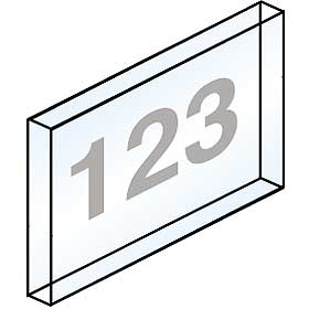 Salsbury industries 2068 Custom Window Engraving For Brass Mailbox Doors-on Plastic Windows only