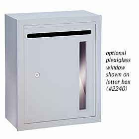 Salsbury industries 2273-LB Custom Plexiglass Window For Letter Box (For Box not Serviced by the USPS)