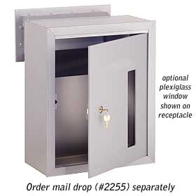 Salsbury industries 2273-MR Custom Plexiglass Window For Receptacle
