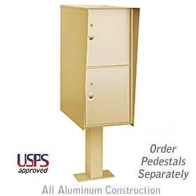 Salsbury industries 3302S Outdoor Parcel Locker-GraySandstone-2 Compartments