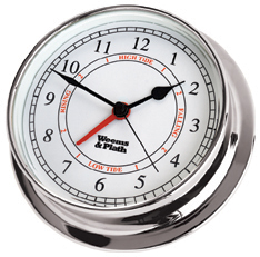 Weems and Plath 540300 Chrome Endurance 125 Time & Tide Clock
