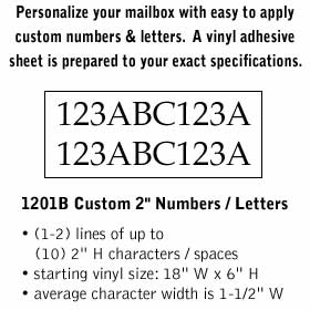 Salsbury industries 1201B Custom Numbers / Letters-Horizontal-Black Vinyl-2 inches High
