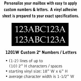 Salsbury industries 1201W Custom Numbers / Letters-Horizontal-White Vinyl-2 inches High