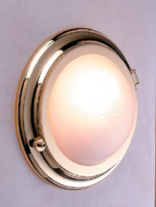 Weems & Plath 2408 Round Brass Bulkhead Light