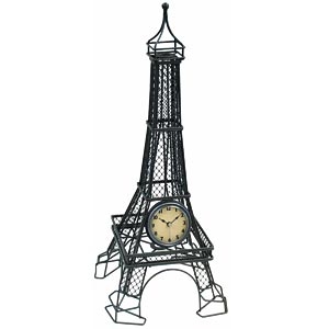 Infinity Instruments 11243 The Eiffel Tower Table Clock