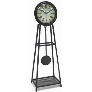 Infinity Instruments 11733 The Sage - Wrought Iron Pendulum Table Clock