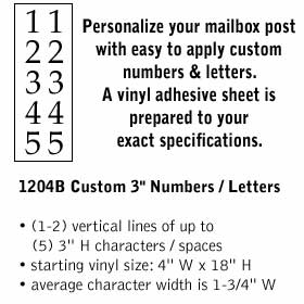 Salsbury industries 1204B Custom Numbers / Letters-Vertical-Black Vinyl-3 inches High