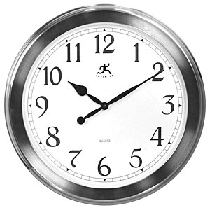 Infinity Instruments 12149BN-1567 The Argent - Faux Brushed Nickel Finish Wall Clock