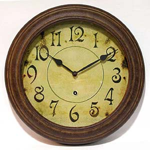 Infinity Instruments 12709RS-1905 The Haven - Rust Metal Wall Clock