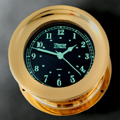 Weems and Plath 400120 Photo-luminescent Quartz Ship's Bell Clock