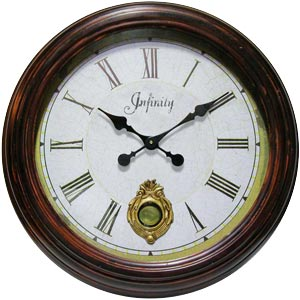 Infinity Instruments 13311ABR-2506 The Laurel Wall Clock