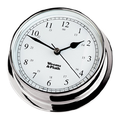 Weems and Plath 540500 Chrome Endurance 125 Clock