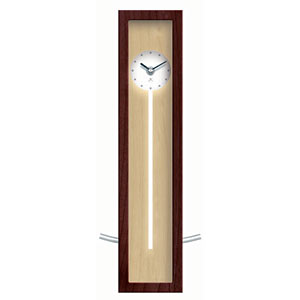Infinity Instruments 9952AW-673 High Rise - Walnut - Illusion Wood Wall/Table Pendulum Clock