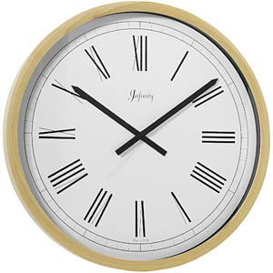 Infinity Instruments BOR051 Italian Beech Wood Wall Clock-Natural Finish