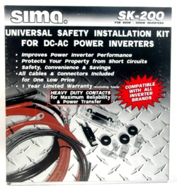 Sima SK-200 AC - DC Power Inverter Installation Kit