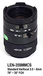 StarDot LEN-V358CS Standard Varifocal Lens (for CAM-VB/H only)
